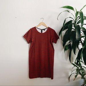 JCrew striped sheath dress (EUC)